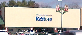 Habitat for Humanity ReStore storefront view